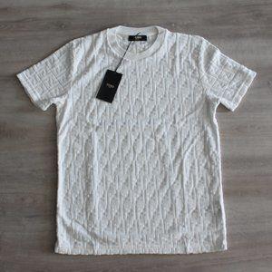 Fendi Monogram Towelling Fabric Jacquard T-Shirt